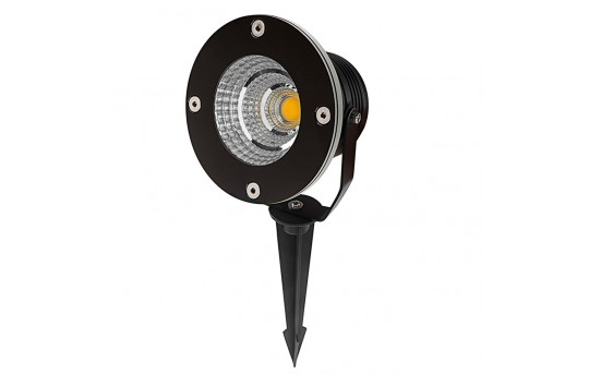 10 Watt Landscape LED Spotlight w/ Mounting Spike - 60 Watt Equivalent - 670 Lumens - GLUX-x10W-S60