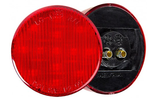 "Round LED Truck and Trailer Lights - 2-1/2"" LED Side Clearance Lights - 2-Pin Connector - Surface Mount - 13 LEDs - M4-x13"