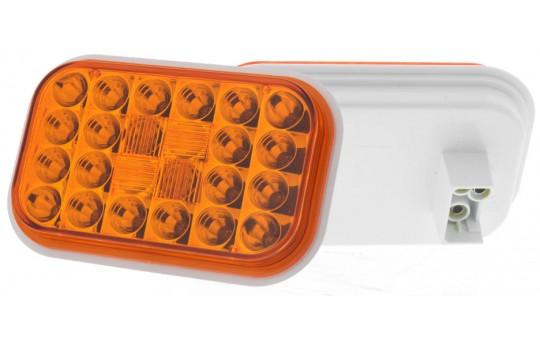 "Rectangle LED Truck and Trailer Lights - 5"" LED Brake/Turn/Tail Lights - 3-Pin Connector - Flush Mount - 24 LEDs - RT-x24"