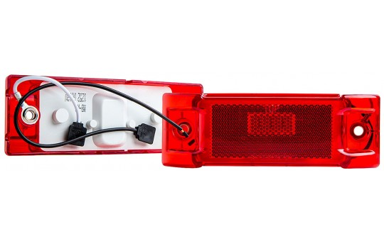 "Rectangular LED Truck and Trailer Lights - 6"" LED Side Clearance Lights - Pigtail Connector - Surface Mount - 8 LEDs - M8-x8"