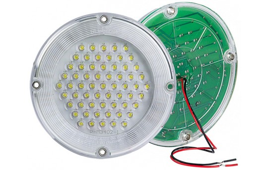 "7"" Round LED Dome Light Fixture - 20 Watt Equivalent - TDL-WCW60"