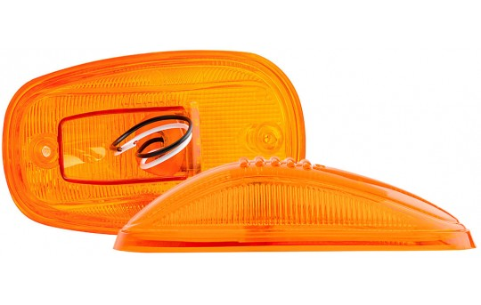 "LED Cab Marker Lights - 5-1/2"" LED Truck Clearance Marker with 9 Amber LEDs - MBC-A9"