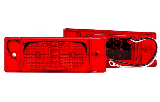 "Rectangle LED Truck and Trailer Lights - 6"" LED PC Rated Side Clearance Lights - Pigtail Connector - Surface Mount - 6 LEDs - M8PC-x6"