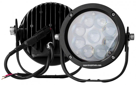 "LED Golf Cart Light - 5.5"" Round - 40W - WL-45W-RTx-GC"