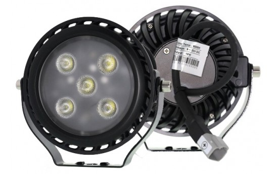 "5"" Round 18W Heavy Duty High Powered LED Work Light - WL-18W-RT60x"