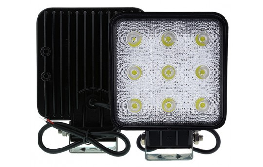 "Off-Road LED Work Light/LED Driving Light - 5"" Square - 19W - 2,025 Lumens - WL-27W-Sx"