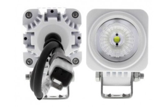"LED Boat Light - 2"" Square Spot or Spreader Light - 9W - 900 Lumens - AUX-10W-SxW"