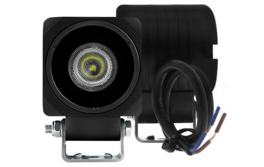 """10W Mini-Aux 2"""" Square LED Work Light  - AUX-10W-S80B"""