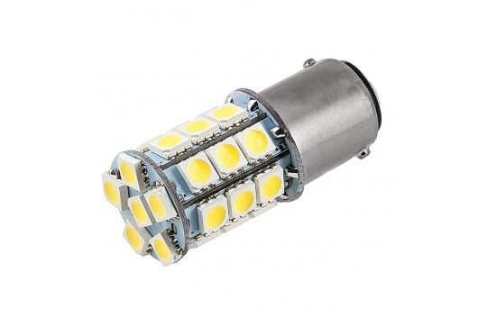 1142 LED Bulb - 27 SMD LED Tower - BA15D Retrofit - 1142-x27-T-CAR