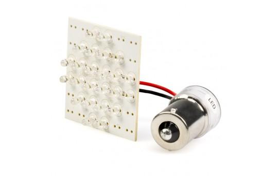 1156 LED Bulb - 24 LED PCB Lamp - BA15S Retrofit - 1156-PCB-x24-CAR