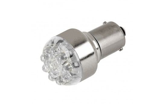 1156 LED Bulb - 12 LED Forward Firing Cluster - BA15S Retrofit - 1156-W12-24V-CAR