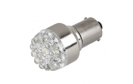 1156 LED Bulb - 19 LED Forward Firing Cluster - 6 VDC - 1156-x19-xV-CAR