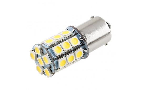 1156 LED Boat and RV Light Bulb - 27 SMD LED Tower - BA15S Retrofit - 420 Lumens - 1156-x27-T-RVB
