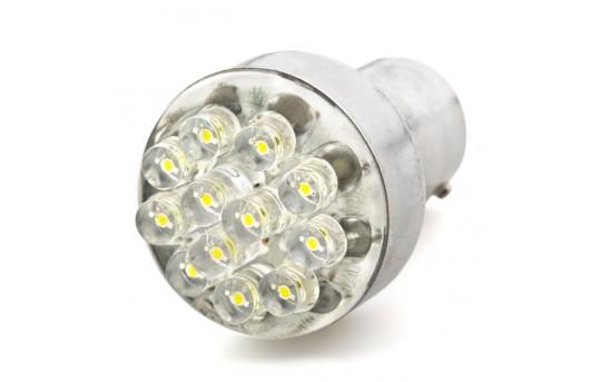 1157 LED Bulb - Dual Function 12 LED Forward Firing Cluster - BAY15D Retrofit - 1157-x12-24V-CAR