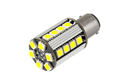 1157 CAN Bus LED Bulb - Dual Function 26 SMD LED Tower - BAY15D Retrofit - 1157-x26-CBT-CAR