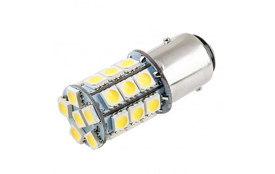 1157 LED Boat and RV Light Bulb - Dual Function 27 SMD LED Tower - BAY15D Retrofit - 330 Lumens - 1157-x27-T-RVB