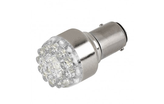 1157 LED Bulb - Dual Function 19 LED Forward Firing Cluster - BAY15D Bulb - 1157-x19-xV-CAR