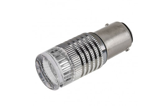 1157 LED Bulb w/ Brake Flasher - Dual Function 1 High Power LED - BAY15D Retrofit - 1157-R3W-FL-CAR