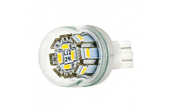 194 LED Bulb w/ Stock Cover - 12 SMD LED Tower - Miniature Wedge Retrofit - WLED-xW1W-G-CAR