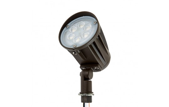 15 Watt Knuckle-Mount LED Spotlight - Bullet Style - 5000K - 100 Watt Equivalent - 1,500 Lumens - SLKM-x15-60-120V
