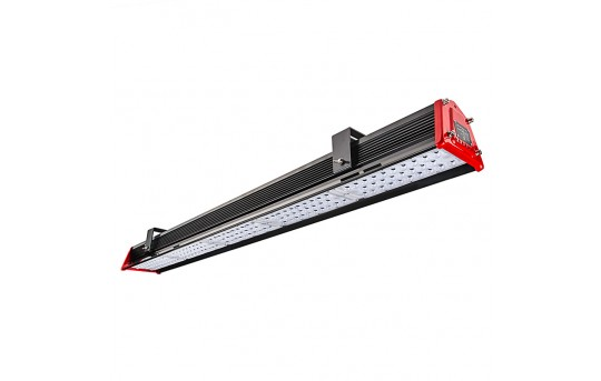150W Linear LED Light Fixture - Industrial LED Light w/ Mounting Brackets - 4' Long - 17,300 Lumens - 5000K - HBL-50K150W-x-MB