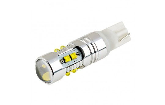 921 LED Bulb w/ Focusing Lens - 10 SMD LED Tower - Miniature Wedge Retrofit - 921-WHP10-TL-CAR