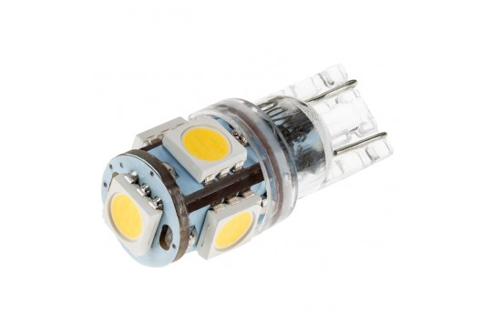 194 LED Boat and RV Light Bulb - 5 SMD LED Tower - Miniature Wedge Retrofit - 95 Lumens - 194-xHP5-RVB