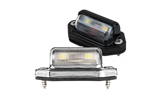 License Plate LED Truck and Trailer Light - Universal LED License Plate Light w/ 2 LEDs - Pigtail Connector - LPC-W2