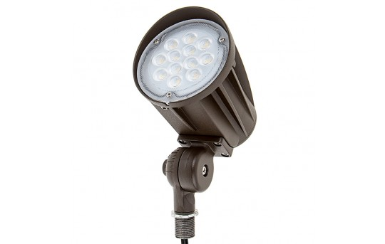 20 Watt Knuckle-Mount LED Spotlight - Bullet Style - 50 Watt MH Equivalent - 2,300 Lumens - SLKM-x20-60-12V