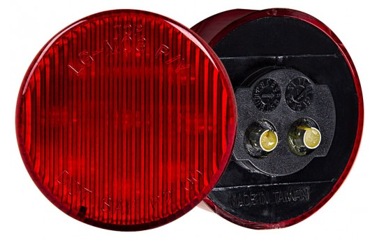 "Round LED Truck and Trailer Lights - 2"" LED Side Clearance Lights - Pigtail Connector - Flush Mount - 9 LEDs - M5-x9"