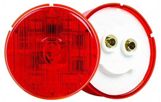 "Round LED Truck Trailer Light - 2"" PC Rated LED Marker Clearance Light - Flush Mount - 5 LEDs - M5PC-x5"