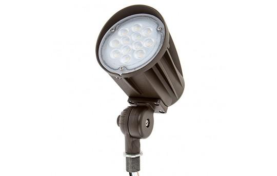28 Watt Knuckle-Mount LED Spotlight - Bullet Style - 5000K - 50 Watt MH Equivalent - 2,800 Lumens - SLKM-x28-60-120V