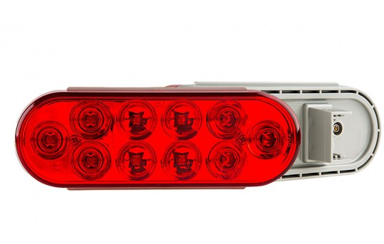 "Oval LED Truck and Trailer Lights - 6"" Brake/Turn/Tail Lights - 3-Pin Connector - Flush Mount - 10 LEDs - PT-x10"