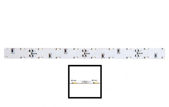 Dual Row LED Strip Lights with LC2 Connector - 12V LED Tape Light - Side Emitting - 157 Lumens/ft. - 2SNFLS-W120-WHT