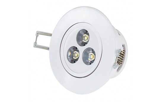 3 Watt LED Recessed Light Fixture - Aimable - 200 Lumens - RLFAD-xW3W-P45