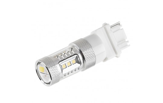 3156 LED Bulb w/ Focusing Lens - 15 SMD LED Tower - Wedge Retrofit - 3156-W15-TL-CAR