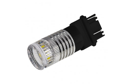 3157 LED Bulb w/ Reflector Lens - Dual Function 1 High Power LED - Wedge Retrofit - 3157-x3W-RVB