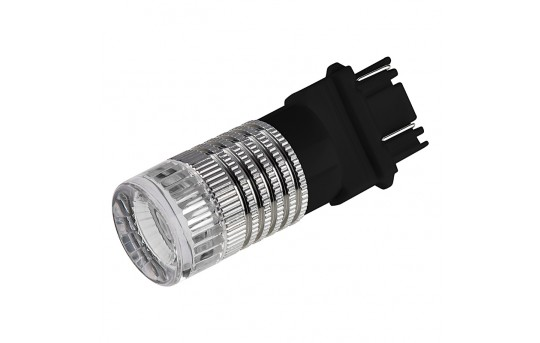 3157 LED Bulb w/ Brake Flasher - Dual Function 1 High Power LED - Wedge Retrofit - 3157-R3W-FL-RVB
