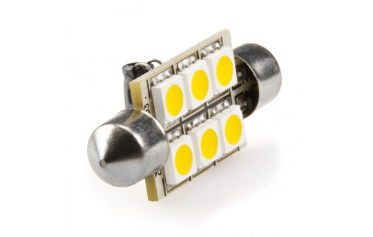 6451 LED Bulb - 6 SMD LED Festoon - 42mm - 4210-xHP6-CAR