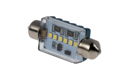 3910 CAN Bus LED Bulb - 6 SMD LED Festoon Bulb - 39mm - 3910-xK6C-CB