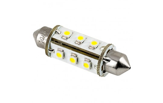 6451 LED Bulb - 12 SMD LED 360 Degree Festoon - 42mm - 4210-xHP12-CAR