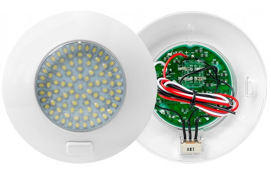 "5.5"" Round LED Dome Light and Door Light Fixture w/ Switch - 30 Watt Equivalent - 280 Lumens - TDLS-W91"