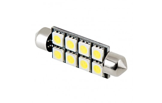 578 LED Boat and RV Light Bulb - 8 LED Festoon - 44mm - 60 Lumens - 4410-x8-RVB