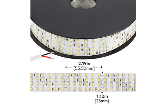 Bright LED Strip Lights - High CRI 24V LED Tape Light - Quad Row - 1,317 Lumens/ft. - 4NFLS-xH2160-24V