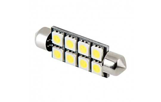 578 CAN Bus LED Bulb - 8 LED Festoon - 44mm - 4410-x8-CBT-CAR
