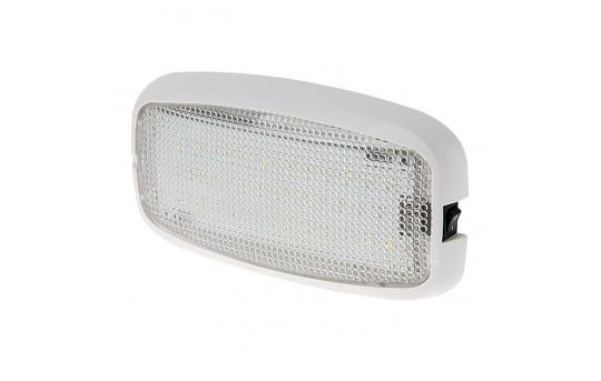 "6"" Rectangular Golf Cart Dome Light Fixture w/ Built-In Switch - 15 Watt Equivalent - 125 Lumens - TDLS-x36-x-GC"