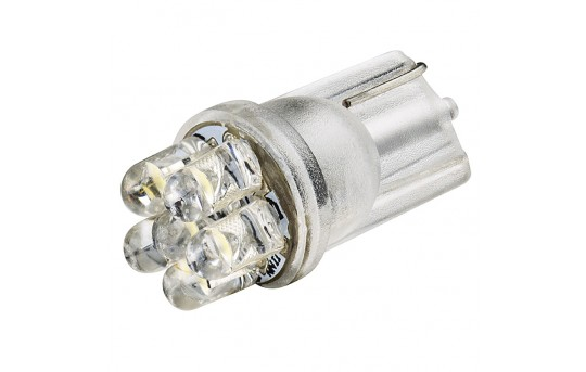 194 LED Bulb - 6 LED - Miniature Wedge Base - WLED-x6-CAR