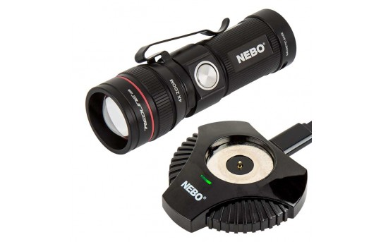 Rechargeable LED Flashlight with Charging Dock - NEBO REDLINE RC - 320 Lumens - #6392