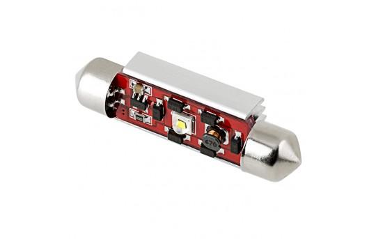6451 LED CAN Bus Bulb - 1 SMD LED Festoon - 42mm - 4210-W1-CB-CAR