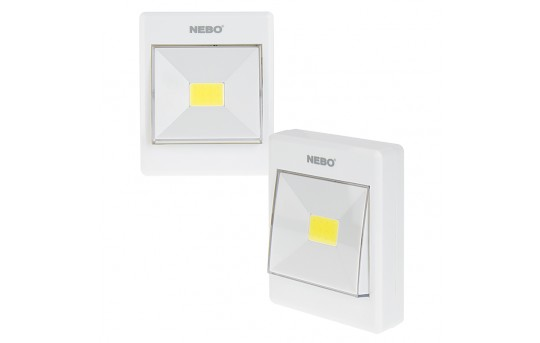 NEBO Contemporary FlipIt LED Light Switch - 2-Pack - 240 Lumens - #6558